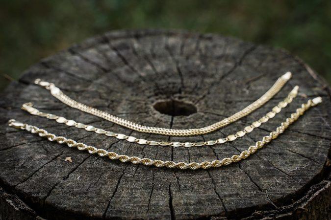 zlatni lancici pleteni